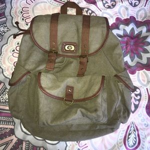Green army color backpack